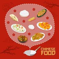 kinesisk mataffisch vektor