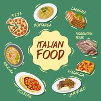 italienisches Lebensmittelplakat vektor