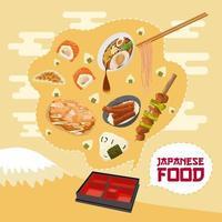 japanisches Lebensmittelplakat vektor
