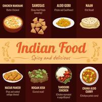 indisches Lebensmittelplakat vektor