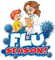 Schriftdesign für die Grippesaison vektor