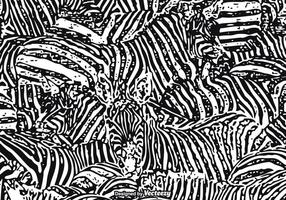 Gratis Vector Zebra Print Bakgrund