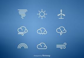 Kostenlose Wetterlinie Vektor Icon Set