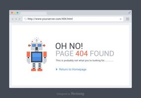 Free 404 Seite gefunden Vektor Vorlage