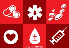 Sjukhus ikoner vektor