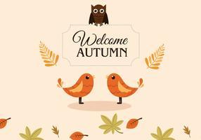 Herbstvögel vektor