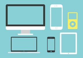 Vektor uppsättning av multimediaenheter