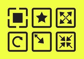 Vektor ikoner av helskärm
