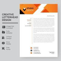 orange geometrische obere Banner Briefkopfschablone vektor