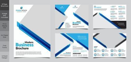 företags företag fyrkantig broschyr mall design