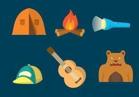 Camping vektor uppsättning