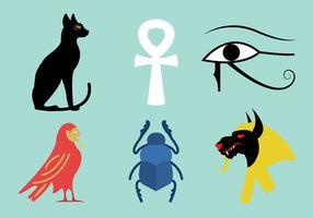 Vektor uppsättning egyptiska symboler