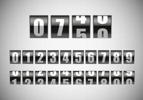 Free Counter mit Zahlen Vektor