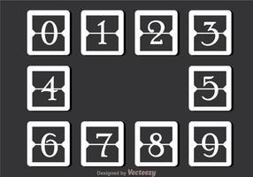 Vit Enkel Nummerräknare vektor