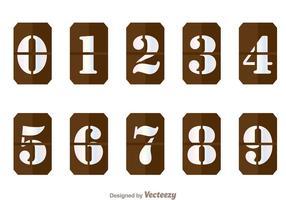 Bruna nummerräknare vektor