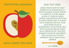 Rosh hashanah hälsning illustration