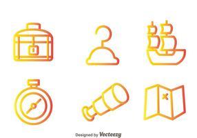 Schatzjäger Outline Icons vektor