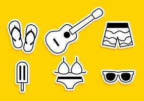 Sommer Strand Symbole vektor