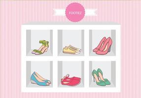 Mode Schuhe Sandalen Fall Vektor