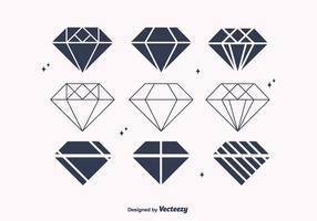 Freie flache Diamantvektoren vektor