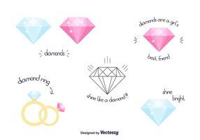 Freien Vektor-Diamanten vektor