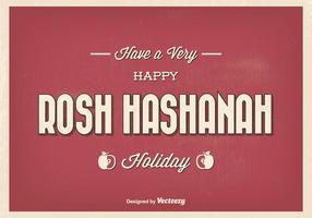 Vintage typografisk rosh hashanah hälsning illustration