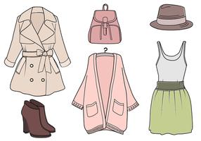 Gratis klädervektor