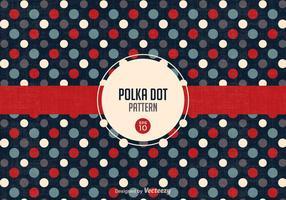 Freier Retro Polka-Punkt-Muster-Vektor