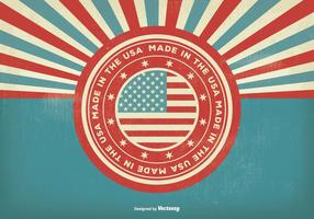 Vintage Style Made In USA Illustration