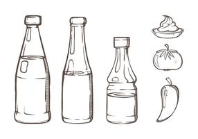 Flasche Sauce Illustrationen