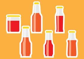 Flasche Sauce Aufkleber