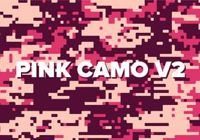 Rosa Digital Camo Vektor Hintergrund Textur V2