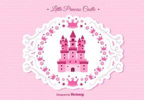 Prinsessans slott vektor