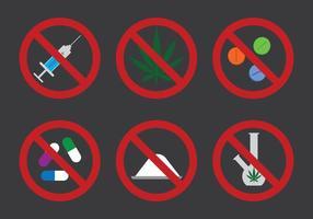 Inga droger Icon Vector