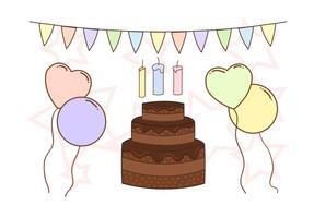 Gratis födelsedagsjubileumsvektor vektor
