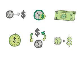 Freie Zeit ist Geld Vektor Serie