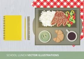 Schule Mittagessen Vektor-Illustration
