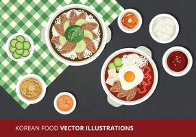 Koreanische Lebensmittel Vektor-Illustration vektor