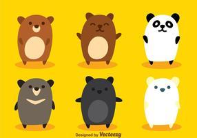 Söt björnvektorer vektor