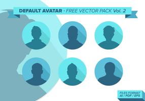 Default avatar free vector pack vol. 2