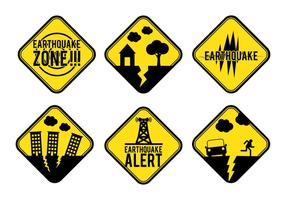 Erdbebenalert Zeichen Vektor