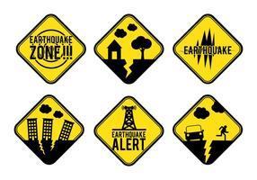 Jordbävning Alert Sign Vector