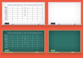 Schulplan Vektoren