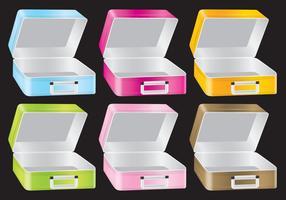 Metalliska lunchbox vektorer