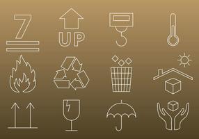 Förpackning Tunna ikoner