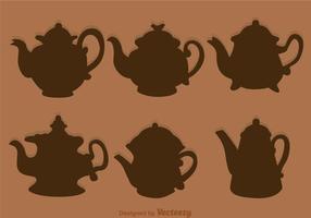 Arabisk Kaffekanna Silhuett vektor