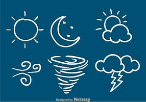 Wetter Sketch Icons vektor
