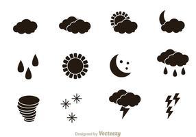 Väder Svarta ikoner