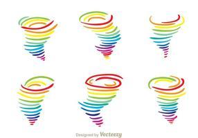 Regnbåge tornado vektor