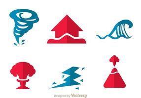 Naturkatastrophen-Ikonen